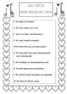 Die Top 10 einer Schule mit Herz